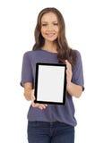 Έφηβος με μια ψηφιακή ταμπλέτα Στοκ φωτογραφία με δικαίωμα ελεύθερης χρήσης