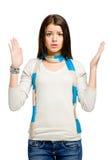 Έφηβος με τα χέρια της επάνω στοκ φωτογραφία με δικαίωμα ελεύθερης χρήσης