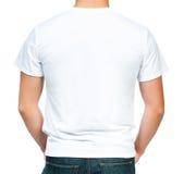 Έφηβος με το κενό άσπρο πουκάμισο Στοκ εικόνα με δικαίωμα ελεύθερης χρήσης