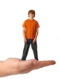έφηβος παλαμών χεριών αγορ Στοκ Εικόνες