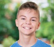 έφηβος πορτρέτου αγοριών Στοκ Εικόνα