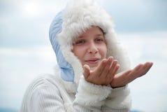 έφηβος πορτρέτου καπέλων &ka Στοκ εικόνα με δικαίωμα ελεύθερης χρήσης