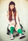 έφηβος σκέιτερ κοριτσιών Στοκ φωτογραφία με δικαίωμα ελεύθερης χρήσης