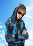Έφηβος στα γυαλιά Στοκ Εικόνες