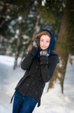 Έφηβος στο χιόνι Στοκ φωτογραφία με δικαίωμα ελεύθερης χρήσης