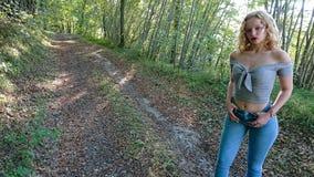 Έφηβος στο Forrest στοκ εικόνα με δικαίωμα ελεύθερης χρήσης