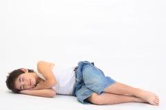 έφηβος ύπνου στοκ φωτογραφίες