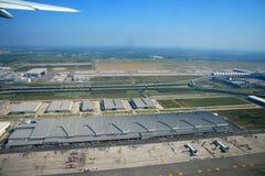Έχετε μια πανοραμική θέα του αερολιμένα της Μπανγκόκ Στοκ Φωτογραφίες