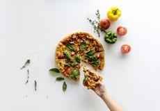 Έχετε μια φέτα μιας πίτσας Στοκ εικόνα με δικαίωμα ελεύθερης χρήσης