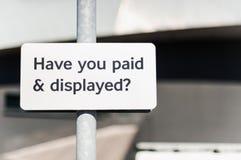 Έχετε πληρώσει και έχετε επιδείξει; στοκ εικόνα