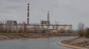 Έχτισε μια νέα Σαρκοφάγο πέρα από το 4ο αντιδραστήρα, νέα Σαρκοφάγος πέ στοκ εικόνα