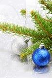 Έλατο και διακόσμηση Χριστουγέννων Στοκ φωτογραφίες με δικαίωμα ελεύθερης χρήσης