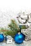 Έλατο και διακόσμηση Χριστουγέννων Στοκ εικόνες με δικαίωμα ελεύθερης χρήσης