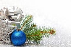 Έλατο και διακόσμηση Χριστουγέννων Στοκ φωτογραφία με δικαίωμα ελεύθερης χρήσης