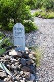 Έδαφος θαψίματος Hill μποτών στην ταφόπετρα Αριζόνα Στοκ Φωτογραφίες