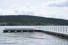 Έδαφος Καναδάς Yukon λιμνών Teslin Στοκ Εικόνα