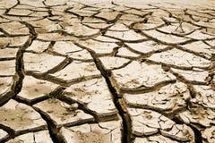 Έδαφος με το ξηρό έδαφος καταστροφή Στοκ φωτογραφία με δικαίωμα ελεύθερης χρήσης