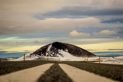Έδαφος που πυροβολείται στην ισλανδική εθνική οδό Στοκ φωτογραφία με δικαίωμα ελεύθερης χρήσης
