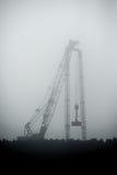 Έδαφος που συνθέτει το βάρος ανελκυστήρων γερανών Στοκ Εικόνες