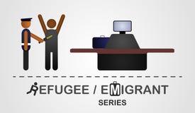 Έλεγχος επιθεωρητών ένα άτομο στο συνοριακό έλεγχο Στοκ φωτογραφίες με δικαίωμα ελεύθερης χρήσης