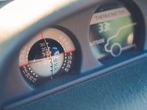 Έλεγχος ισορροπίας οχημάτων και μέτρο θερμοκρασίας για την εξωτερική άποψη Στοκ Εικόνες