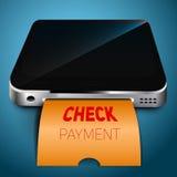 Έλεγχος πληρωμής η κινητή συσκευή σας Στοκ φωτογραφίες με δικαίωμα ελεύθερης χρήσης