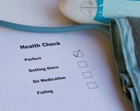 Έλεγχος υγείας Στοκ Εικόνες