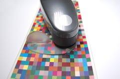 Έλεγχος χρώματος Στοκ εικόνες με δικαίωμα ελεύθερης χρήσης