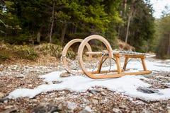 Έλλειψη χιονιού - σφαιρική έννοια θέρμανσης Στοκ εικόνα με δικαίωμα ελεύθερης χρήσης