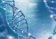 Έλικας DNA στο χρωματισμένο υπόβαθρο απεικόνιση αποθεμάτων
