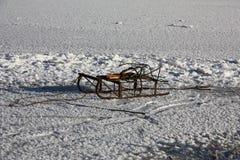 Έλκηθρο στον πάγο Στοκ Εικόνες