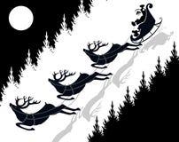 έλκηθρο santa Claus Στοκ Εικόνα