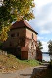 έλξης η κύρια κάστρων πόλεων λίμνη Λιθουανία νησιών χωρών πρώτη εντόπισε τη μεσαιωνική μέση το περισσότερο ένα δημοφιλές trakai τ Στοκ εικόνες με δικαίωμα ελεύθερης χρήσης