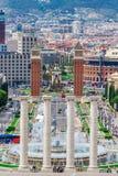 Έλξη της Βαρκελώνης, Plaza de Espana, Καταλωνία, Ισπανία Στοκ Εικόνες