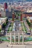Έλξη της Βαρκελώνης, Plaza de Espana Καταλωνία, Ισπανία Στοκ φωτογραφία με δικαίωμα ελεύθερης χρήσης