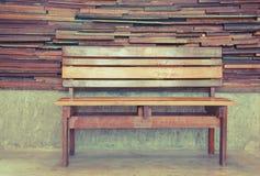 έδρα ξύλινη Στοκ Φωτογραφία