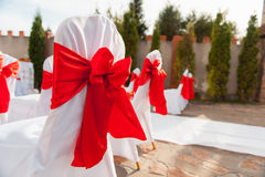 Έδρα που τίθεται για το γάμο, μια άλλη εξυπηρετώ? γεγονός ή τελετή επίσκεψης Στοκ φωτογραφίες με δικαίωμα ελεύθερης χρήσης