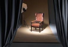 Έδρα σε ένα photostudio Στοκ φωτογραφία με δικαίωμα ελεύθερης χρήσης