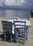 Έδρα στο ελληνικό taverna Στοκ Εικόνες