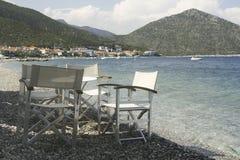 Έδρα στο ελληνικό taverna Στοκ Φωτογραφία
