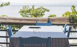 Έδρα στο ελληνικό taverna Στοκ φωτογραφία με δικαίωμα ελεύθερης χρήσης