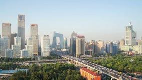 Έδρα CCTV και κτήριο Jianwai CBD απόθεμα βίντεο