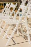 Έδρες για τη γαμήλια τελετή Στοκ φωτογραφίες με δικαίωμα ελεύθερης χρήσης