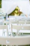 Έδρες ενός γάμου υπαίθρια Στοκ εικόνα με δικαίωμα ελεύθερης χρήσης