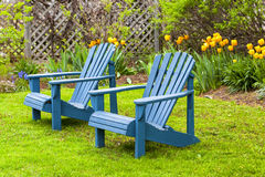 Έδρες κήπων στοκ φωτογραφία