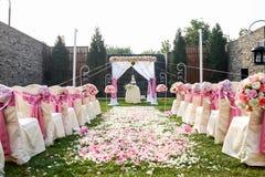 Υπαίθρια γαμήλια σκηνή Στοκ εικόνες με δικαίωμα ελεύθερης χρήσης