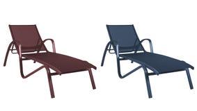 έδρες παραλιών που απομο Στοκ Εικόνες