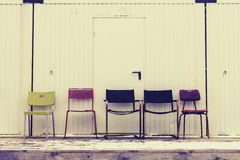Έδρες σε μια σειρά Στοκ Φωτογραφίες