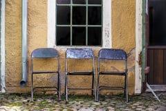 έδρες τρία Στοκ φωτογραφία με δικαίωμα ελεύθερης χρήσης