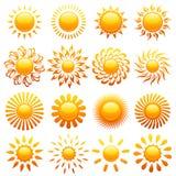ήλιοι στοιχείων σχεδίο&upsil Στοκ Εικόνες